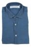 SBU 02855_2020SS Camisa clásica de lino índigo 06