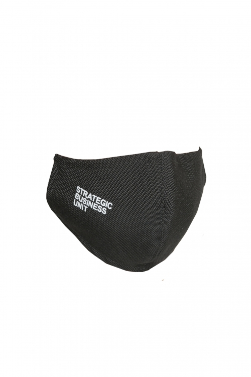 SBU 02856_2020SS Black polyspun facial mask 01