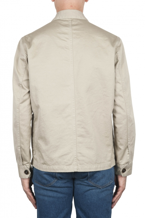 SBU 02857_2020SS Unlined multi-pocketed jacket in beige cotton 01