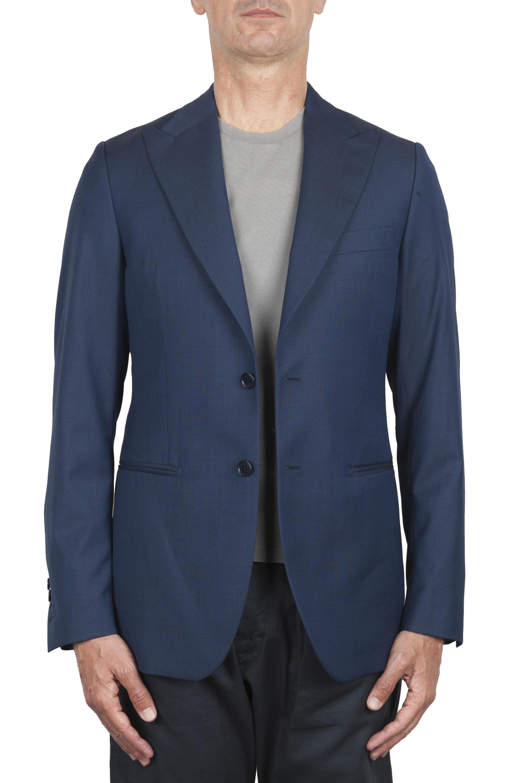 SBU 02860_2020SS Veste sur mesure en laine bleu 01