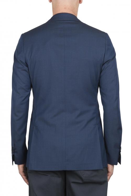 SBU 02860_2020SS Chaqueta de lana azul a medida 01
