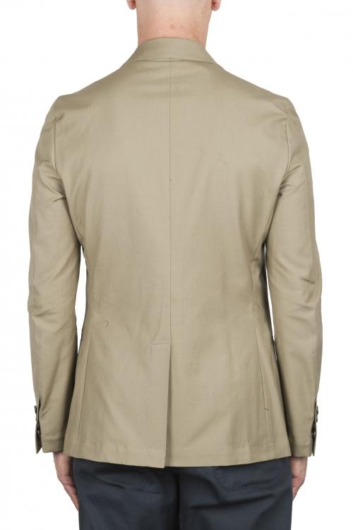 SBU 02861_2020SS Blazer de lino beige mezclado 01