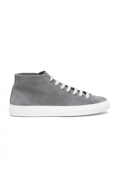 SBU 02864_2020SS Sneakers stringate alte in pelle scamosciata grigie 01