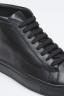 SBU - Strategic Business Unit - Classic Mid Top Sneakers In Black Calf-Skin Leather