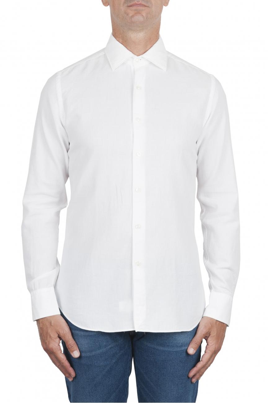 SBU 02901_2020AW Camisa de sarga de algodón blanca 01