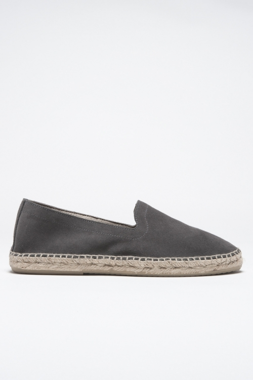 SBU - Strategic Business Unit - Original Grey Suede Leather Espadrilles Rubber Sole