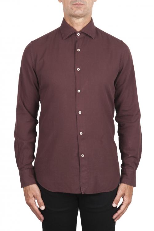 SBU 02903_2020AW ダークレッドコットンツイルシャツ 01