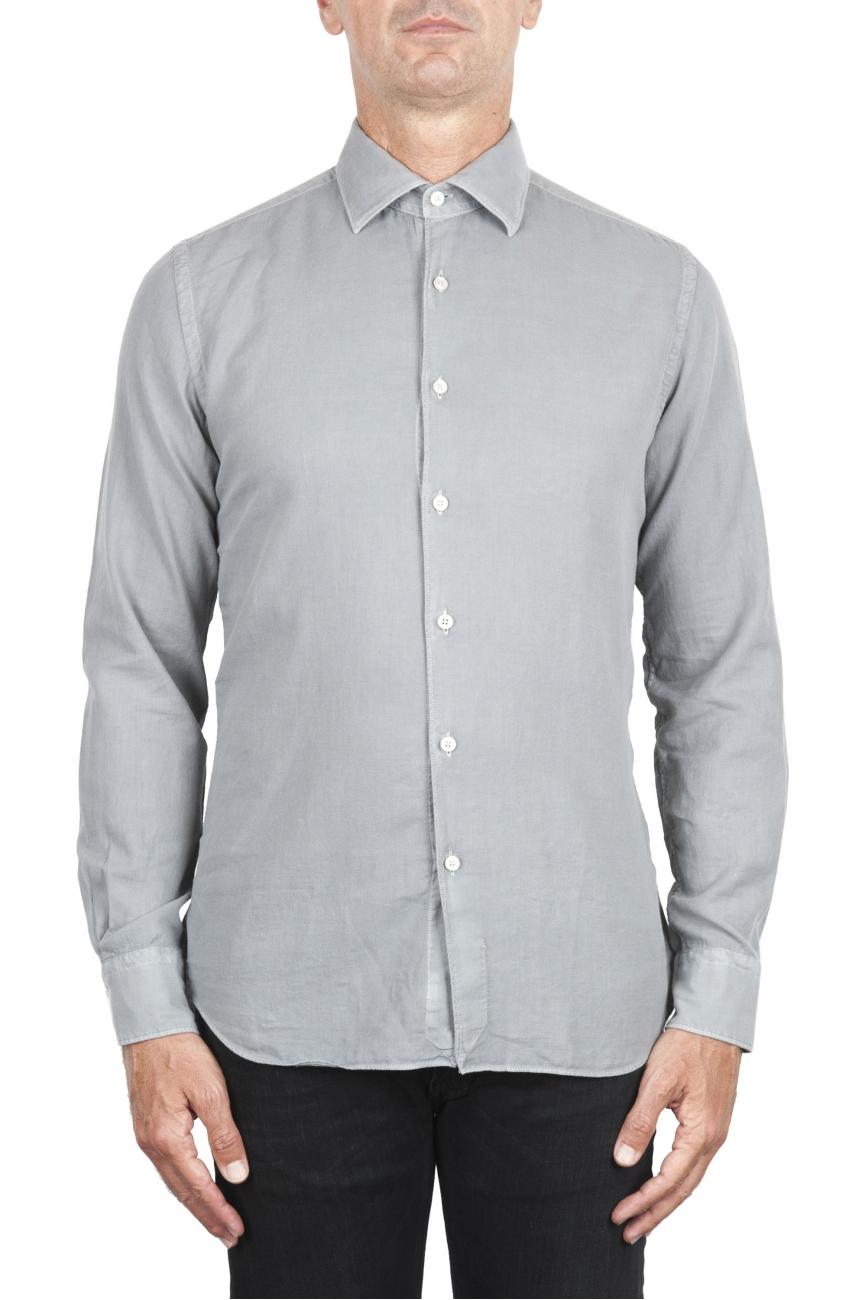 SBU 02904_2020AW Camisa de sarga de algodón gris 06