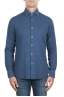 SBU 02905_2020AW Indigo cotton twill shirt 01