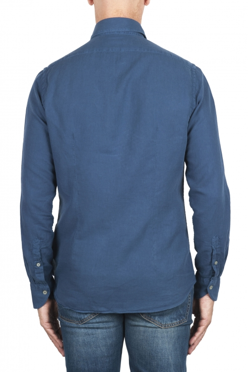 SBU 02905_2020AW Indigo cotton twill shirt 01