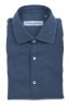 SBU 02905_2020AW Camisa de sarga de algodón índigo 06