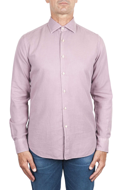 SBU 02906_2020AW Camicia in twill di cotone rosa 01