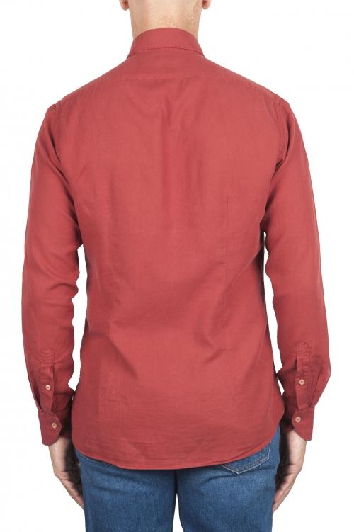 SBU 02907_2020AW Red cotton twill shirt 01