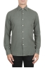 SBU 02909_2020AW Green cotton twill shirt 01