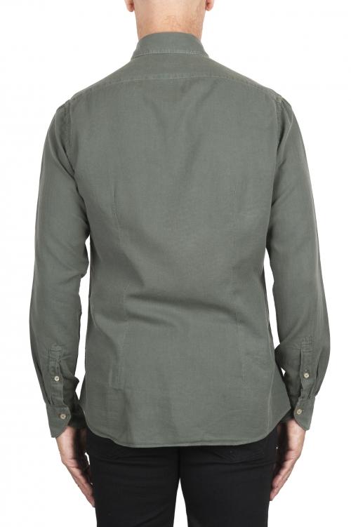 SBU 02909_2020AW Green cotton twill shirt 01