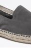 SBU - Strategic Business Unit - Original Grey Suede Leather Espadrilles Rubber Sole