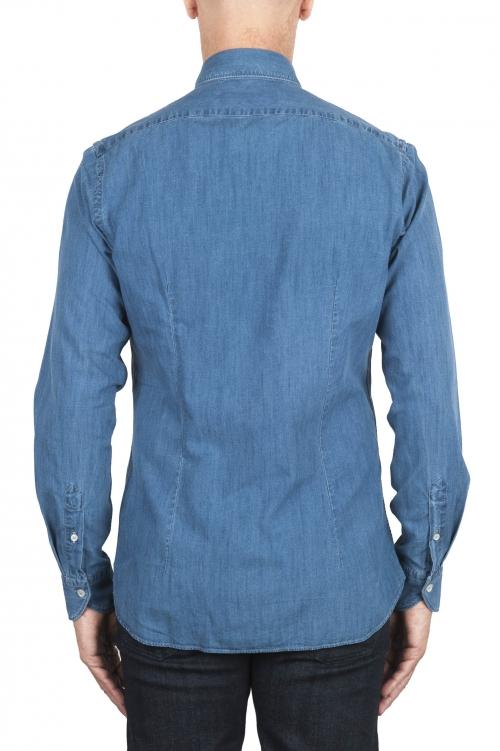 SBU 02910_2020AW ピュアインディゴ染めのブルーコットンデニムシャツ 01