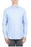 SBU 02913_2020AW Camicia in flanella di cotone tinta unita blu 01