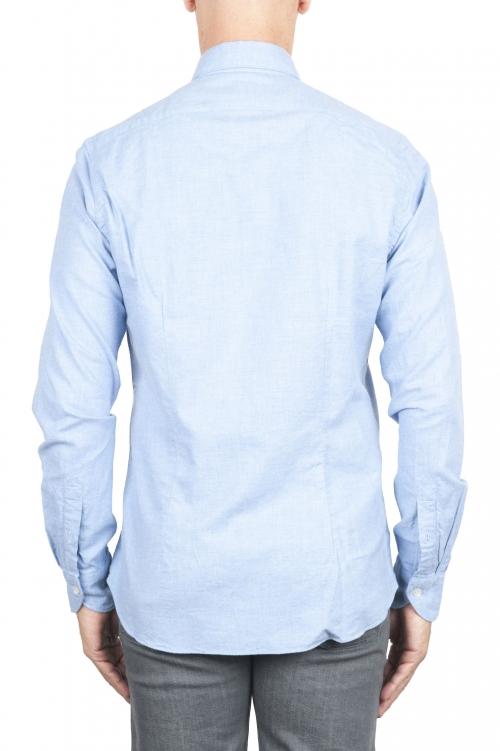 SBU 02913_2020AW プレーンコットンブルーのフランネルシャツ 01