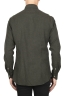 SBU 02915_2020AW Camicia classica in flanella di cotone verde 05