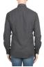 SBU 02916_2020AW Camicia in flanella di cotone tinta unita grigia 05