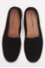Original Black Suede Leather Espadrilles Rubber Sole