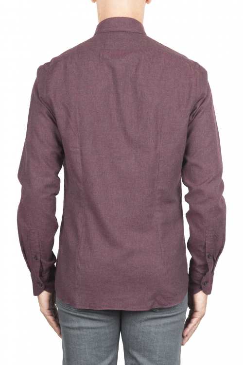 SBU 02917_2020AW Plain soft cotton caret flannel shirt 01