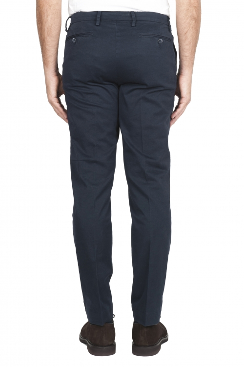SBU 02918_2020AW Pantaloni chino classici in cotone stretch blu 01