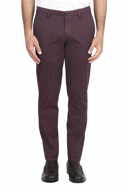 SBU 02920_2020AW Classic chino pants in red stretch cotton 01