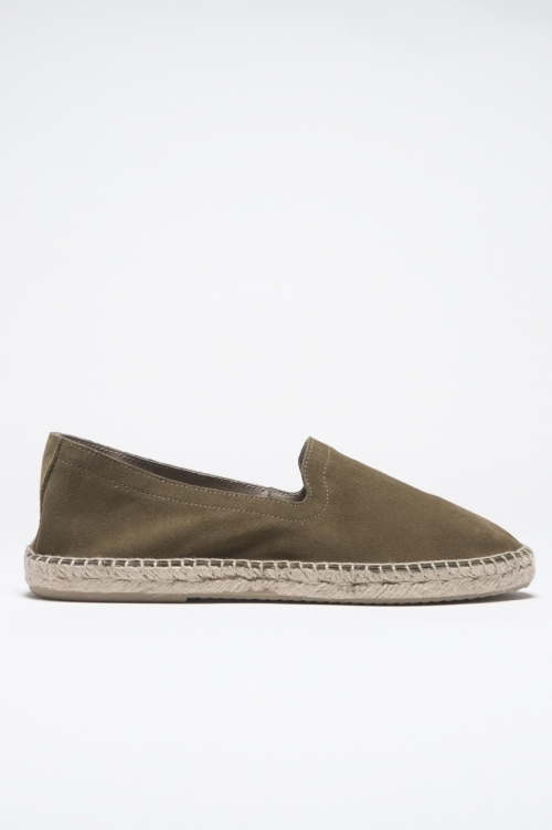 SBU - Strategic Business Unit - Original Green Suede Leather Espadrilles Rubber Sole