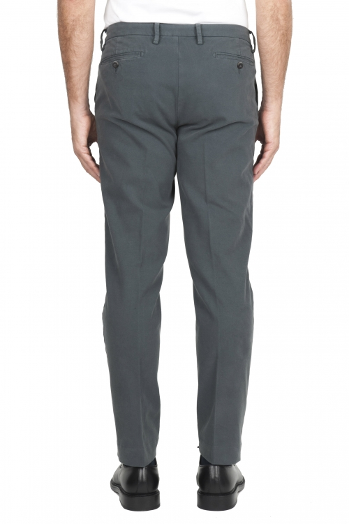 SBU 02925_2020AW Pantalon chino classique en coton stretch gris 01