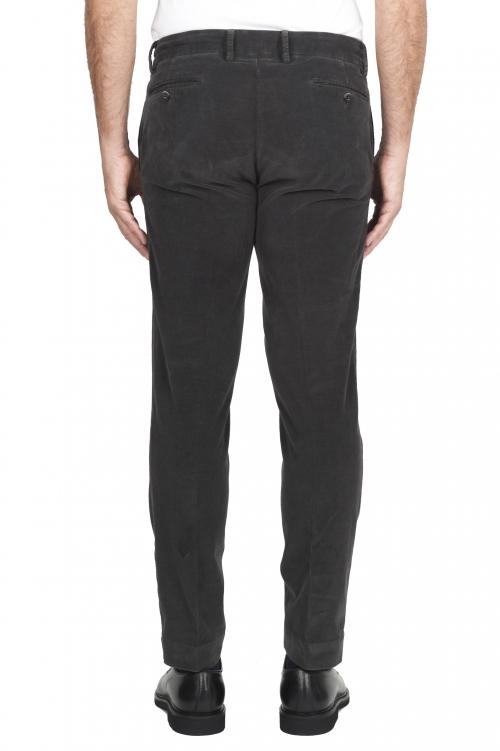 SBU 02929_2020AW Pantaloni chino classici in cotone stretch grigio 01