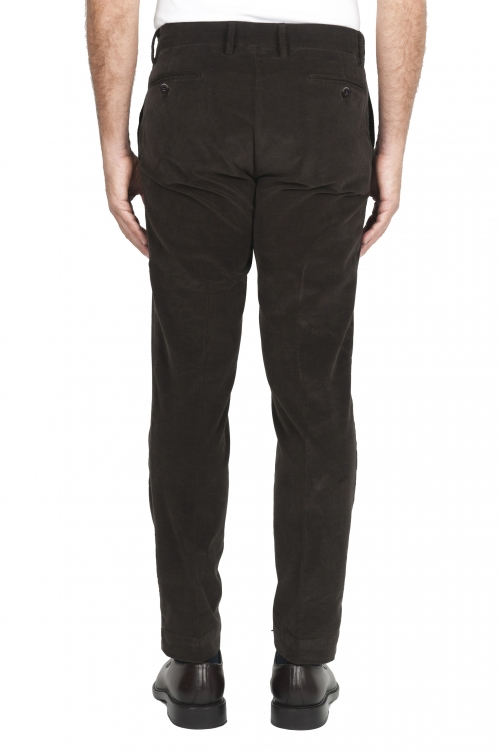 SBU 02931_2020AW Classic chino pants in brown stretch cotton 01