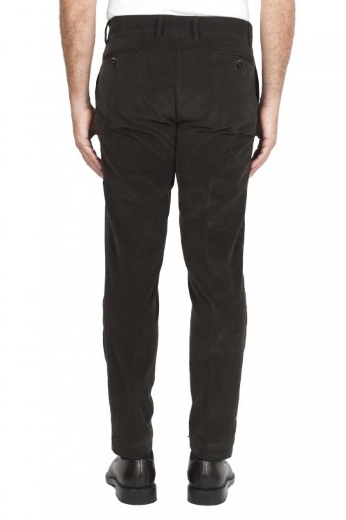 SBU 02931_2020AW Pantalones chinos clásicos en algodón elástico marrón 01