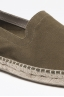 Original Green Suede Leather Espadrilles Rubber Sole