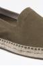 SBU - Strategic Business Unit - Original Green Suede Leather Espadrilles Rubber Sole