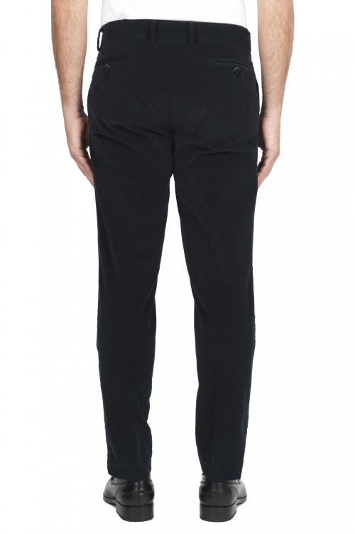 SBU 02932_2020AW Pantalones chinos clásicos en algodón elástico azul 01