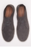 Original Suede Leather Lace Up Espadrilles Rubber Sole Grey