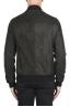 SBU 02942_2020AW Black nubuck leather lined bomber jacket 05