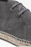 SBU - Strategic Business Unit - Original Suede Leather Lace Up Espadrilles Rubber Sole Grey