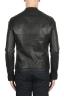 SBU 02943_2020AW Giacca da motociclista in pelle nera  05
