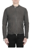 SBU 02947_2020AW Grey suede leather jacket 01