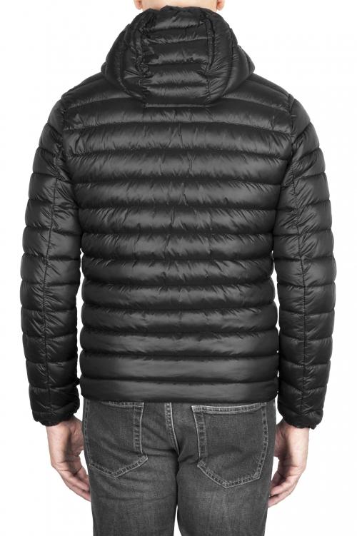 SBU 02950_2020AW Piumino con cappuccio termico antivento e traspirante nero 01