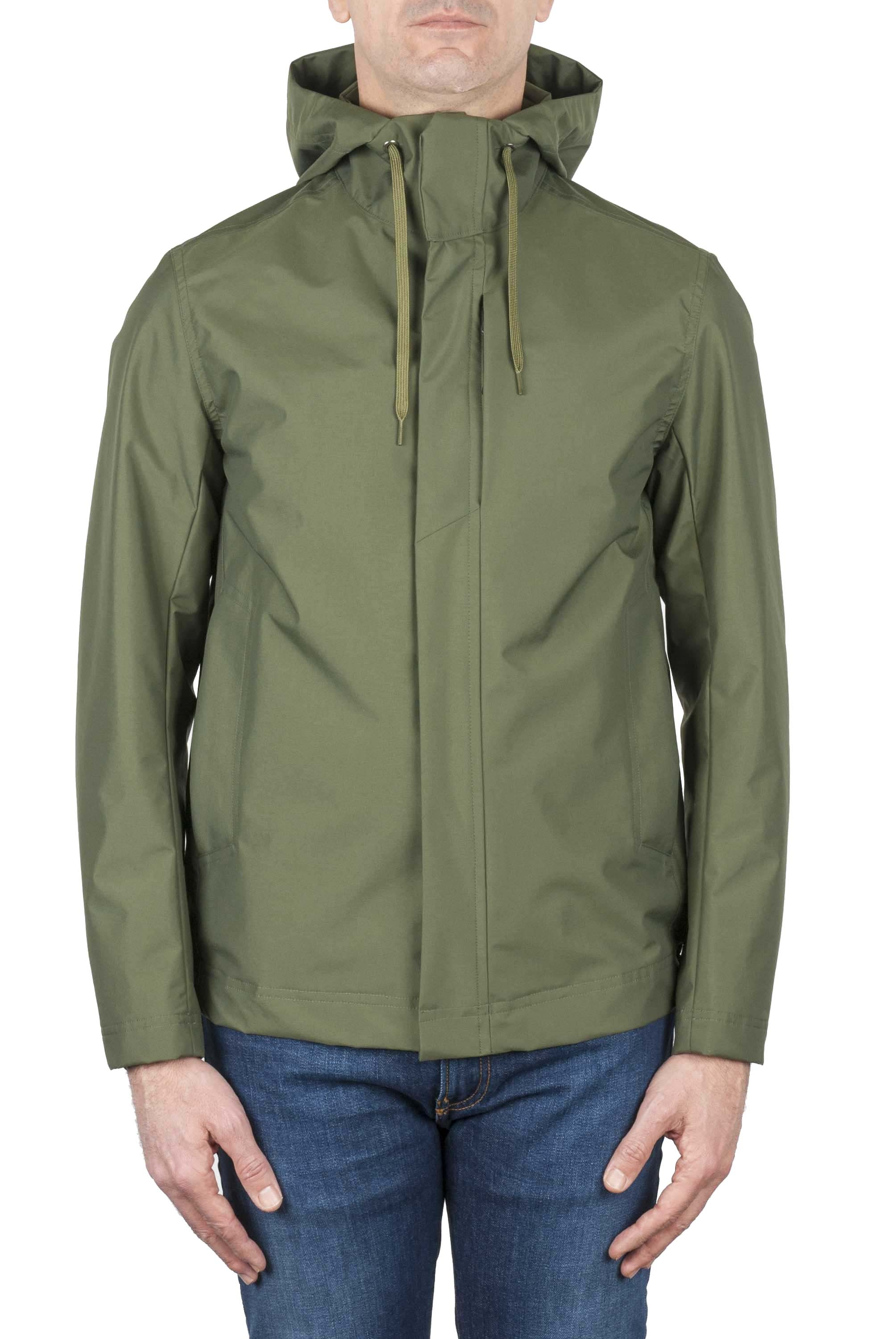 SBU 02952_2020AW Technical waterproof hooded windbreaker jacket green 01