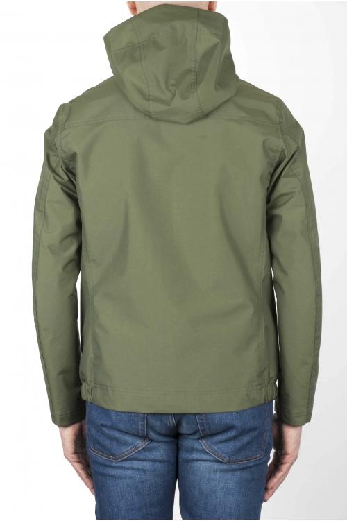 SBU 02952_2020AW Technical waterproof hooded windbreaker jacket green 01