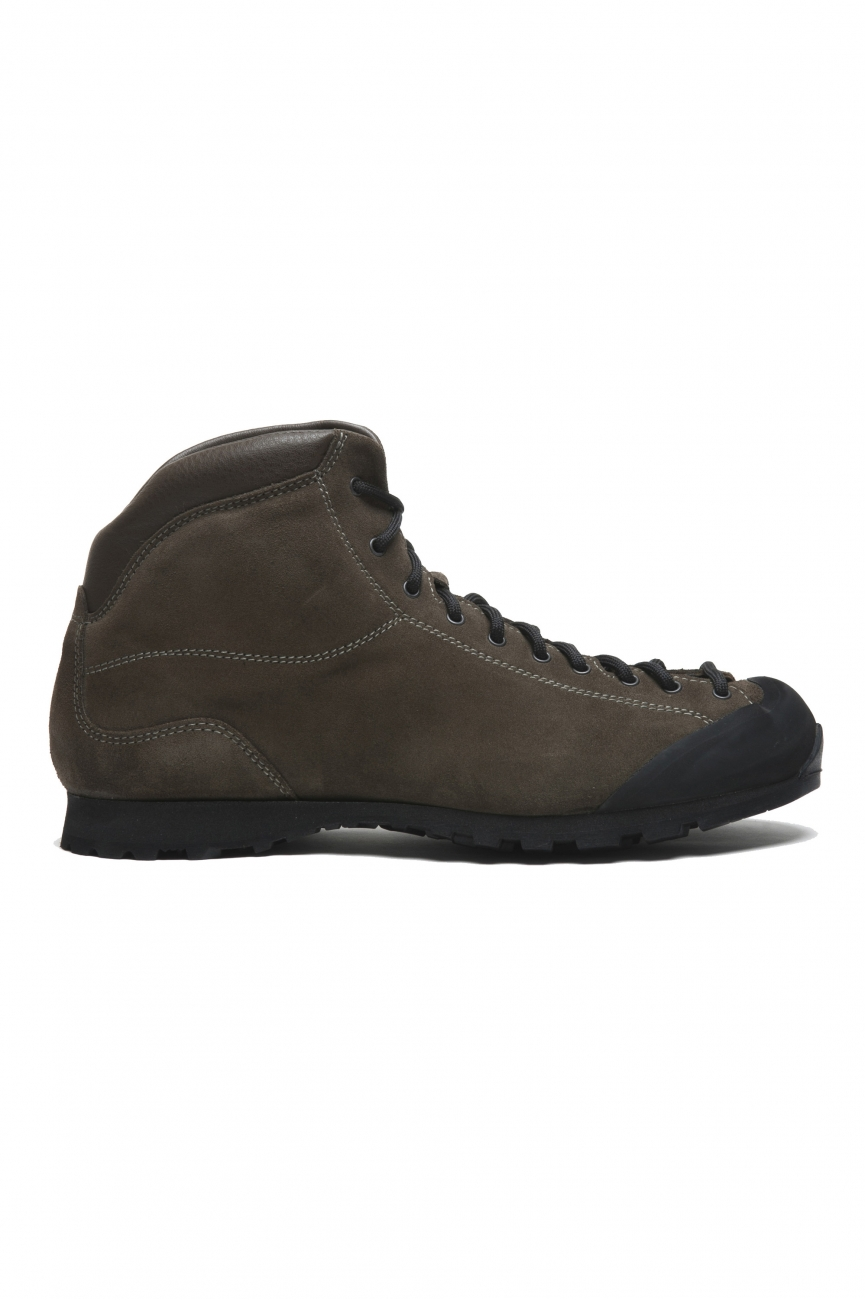 SBU 02959_2020AW Hiking boots in green calfskin suede leather 01