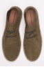 SBU - Strategic Business Unit - Original Suede Leather Lace Up Espadrilles Rubber Sole Green