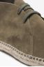 SBU - Strategic Business Unit - Original Suede Leather Lace Up Espadrilles Rubber Sole Green