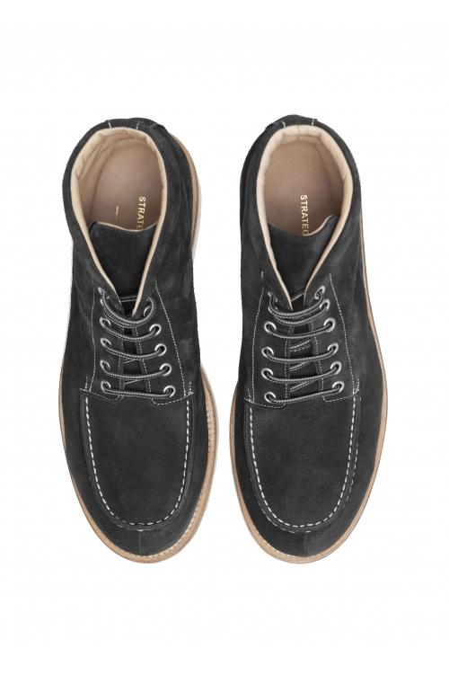 SBU 02965_2020AW Scarpe da lavoro classiche in pelle scamosciata nera 01