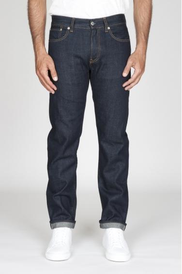SBU - Strategic Business Unit - Jeans Cimosa Cotone Puro Indaco Denim Giapponese Lavato Blue